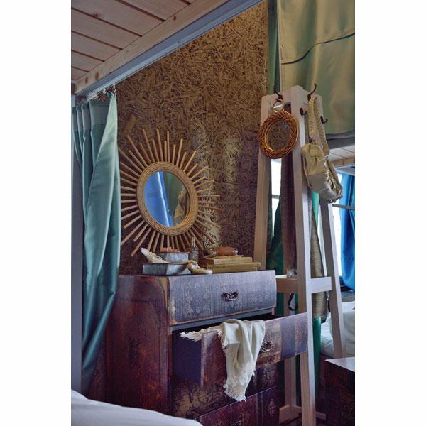 職人による手編みウォールミラー ラタン素材 タイプA