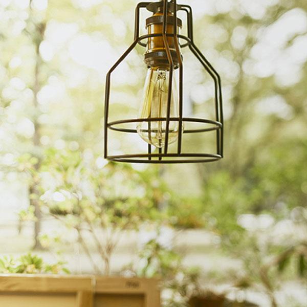 ペンダントライト ワイヤーフレーム ボトル型 吊り下げ照明