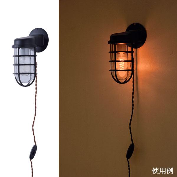 おしゃれな壁面インテリア。ブラケットライト ワイヤーフレーム 垂直型
