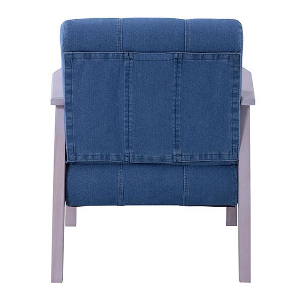 ユーズド感のある使い込んだジーンズの風合いが魅力の1人掛けソファ