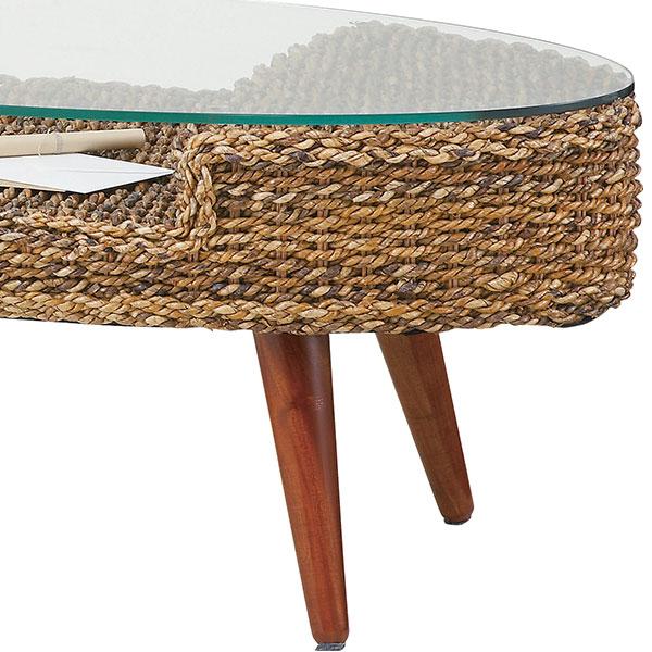 アバカセンターテーブル オーバル 125-13108|詳細画像