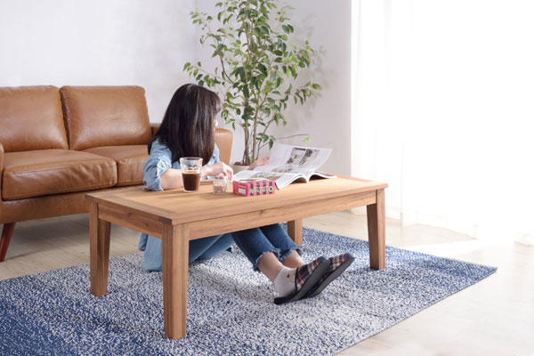 天然木アカシア センターテーブル Lサイズ