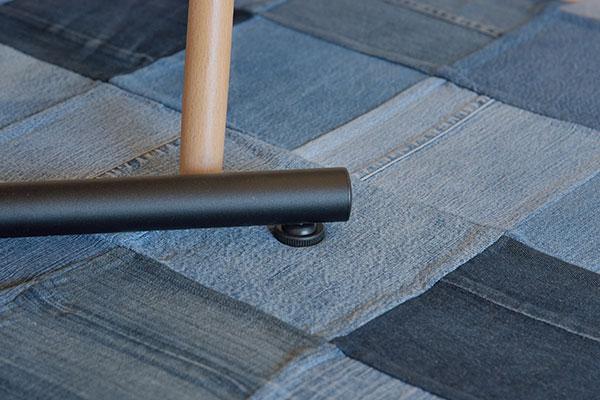 オーク天然木を使用したくつろぎのカフェテーブル 十字脚 長方形 100×60cm