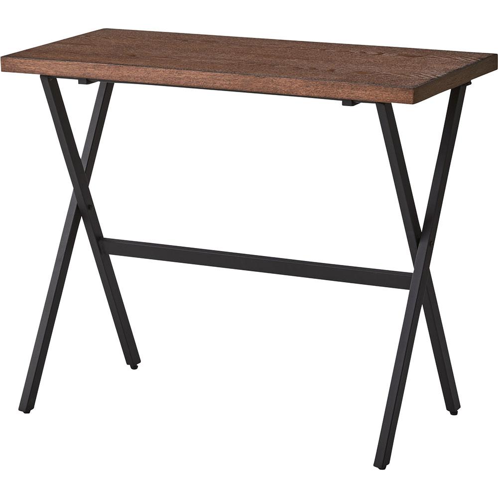 折りたためて移動や収納に便利な木製デスク インダストリアルスタイル 125-15104|詳細画像