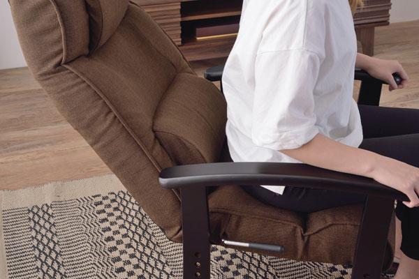 快適・楽々のリクライニング機能付き高座椅子 安楽椅子