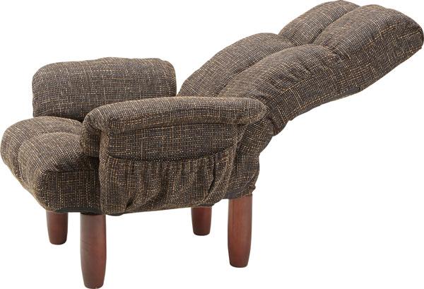 自分だけのリラックス時間を。リクライニング機能付き高座椅子 安楽椅子 125-16133|詳細画像
