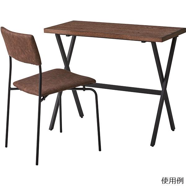 シンプルですらっとした鉄製脚がスタイリッシュなアームレスチェア