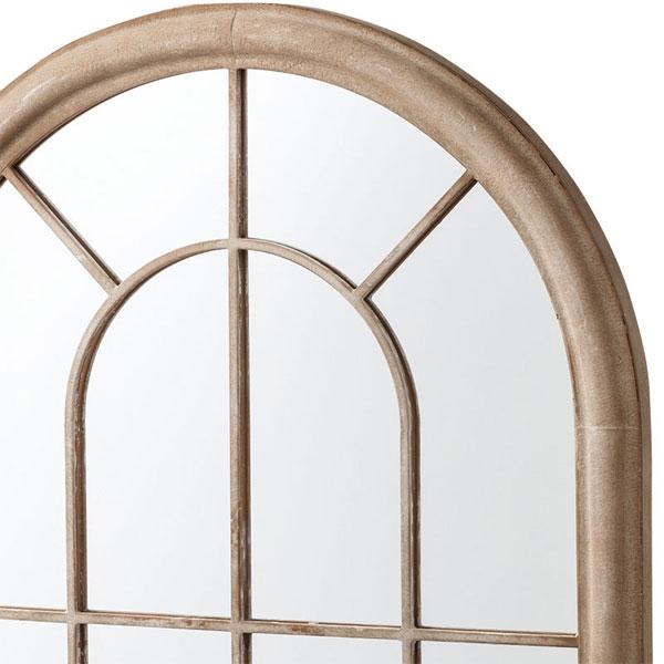洋風の格子窓みたいなウォールミラー 鉄製 タイプA