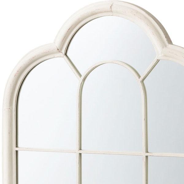 洋風の格子窓みたいなウォールミラー 鉄製 タイプB