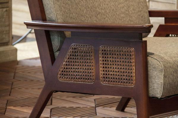 ラタンの風合いが魅力のアジアンスタイル。ハイバック2人掛けソファ 135-12138|詳細画像
