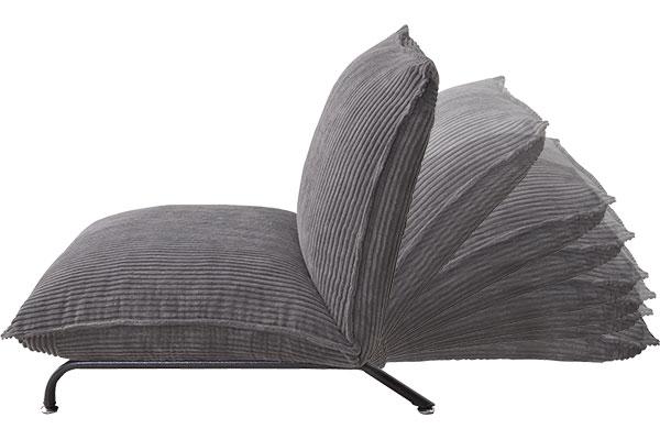 コーデュロイ素材のビッグサイズ・フロアソファ