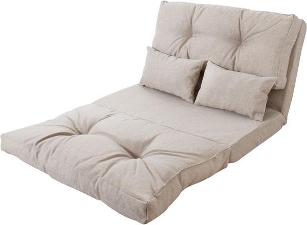 ベッドにもなる本当に使い勝手のいい2人掛けフロアソファ