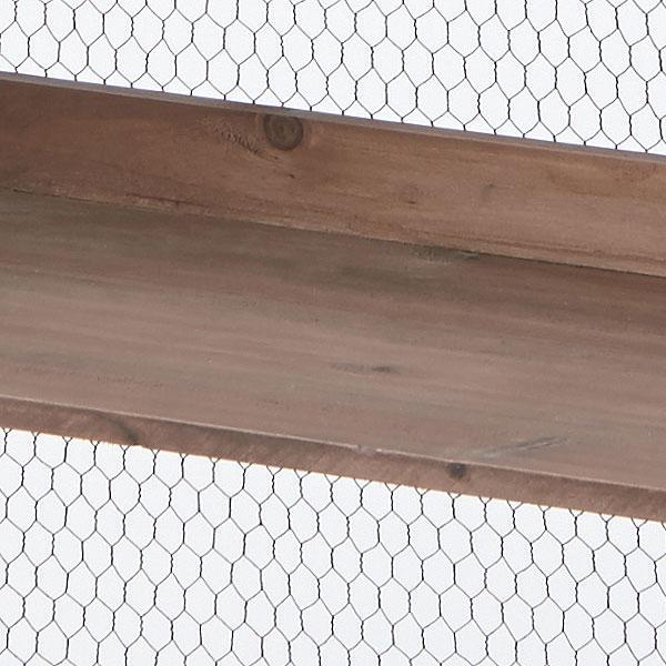 天然杉を生かしたラック S字フック付き 幅72cm