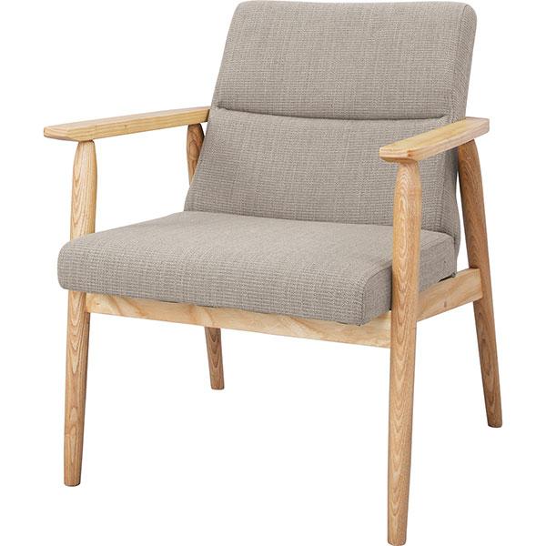 天然木を使用したゆったり1人掛けソファー 完成品