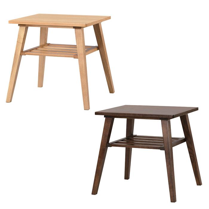 天然木を使用したナチュラルサイドテーブル 54cm×51cm