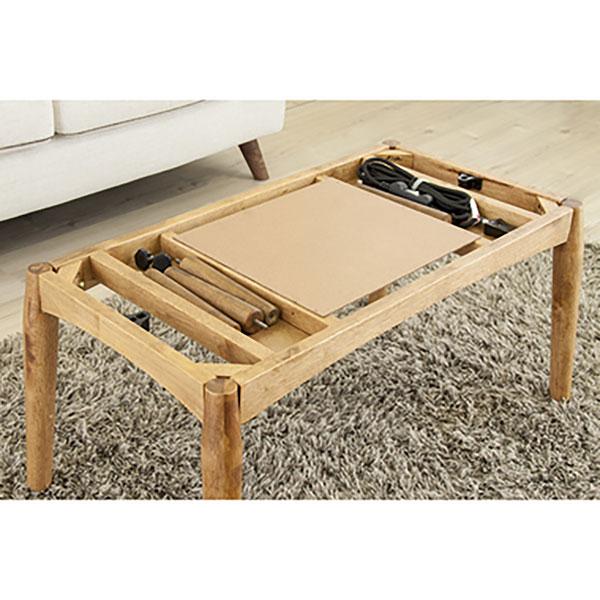 高さを変えられ2倍お得! おしゃれコタツテーブル 2WAY 90×55cm