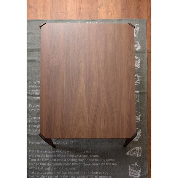 ウォルナット材を使用し上品な風合いのデザインコタツテーブル 北欧スタイル 105×75cm