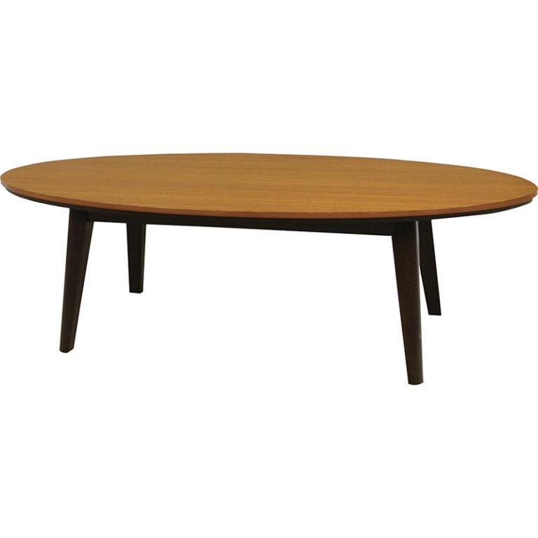 すっきりした楕円形のこたつテーブル オーバル型 即暖温風ヒーター おしゃれ 120×60cm
