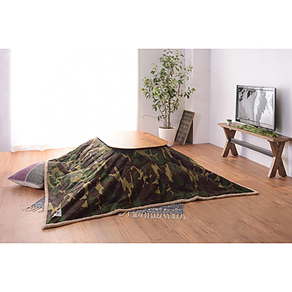 天然木アカシアこたつ ナチュラルデザイン オーバル型 90×60cm
