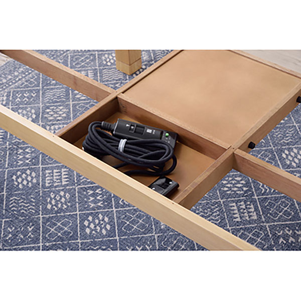 日本製 和モダンデザインこたつ 継脚で高さ調整可 135×80cm