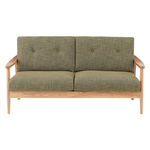 天然木アッシュ材を使用した3人掛けソファ