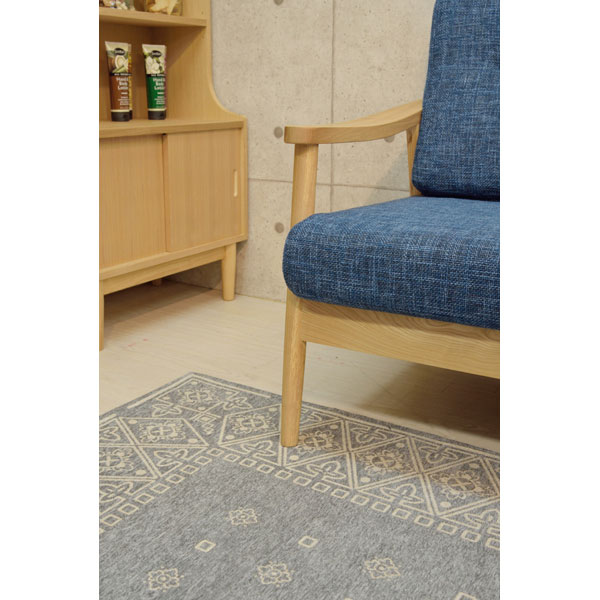 天然木アッシュ材を使用した3人掛けソファ 155-12112|詳細画像